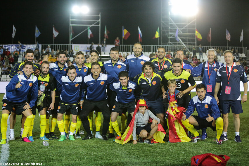 Spanish team after win